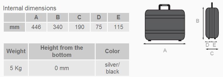 Composit 190 - Dimensioni e peso