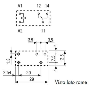Rele Finder 4131 Size layout