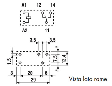 Relè Finder 4031 layout
