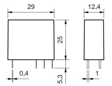 Finder 40527012 Relè elettromeccanico per circuito stampato o zoccolo con passo 5 mm