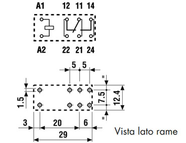 Finder relè 4061 layout