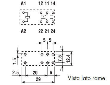 Finder relè 4462 layout