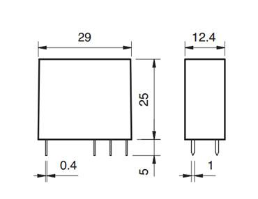 Finder 4462 Relè elettromeccanico per circuito stampato o zoccolo con passo 5 mm
