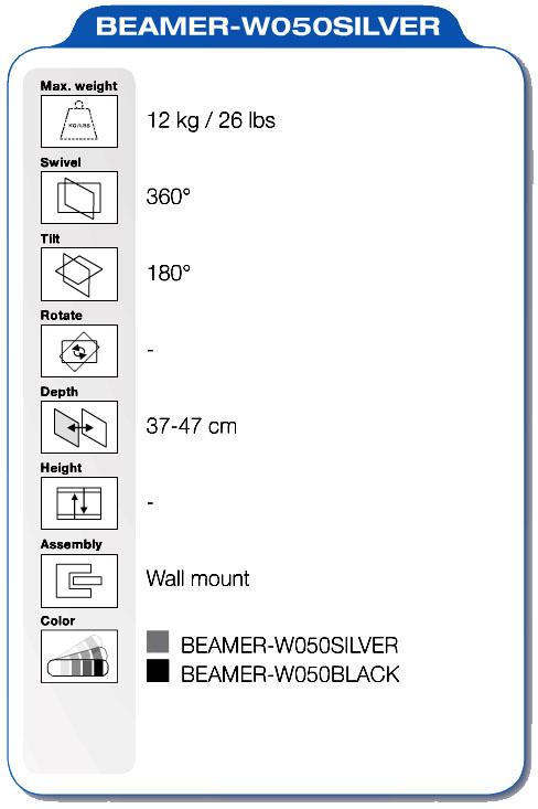 NewStar BEAMER-W050SILVER specifiche