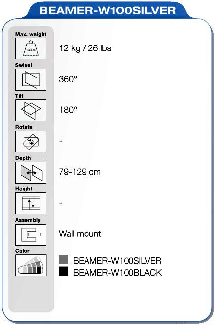 NewStar BEAMER-W100SILVER specifiche