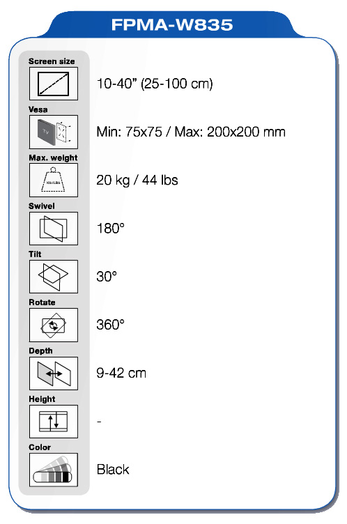 NewStar FPMA-W835 specifiche